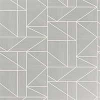 Malvolio Silver Geometric Wallpaper