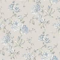 Mandir Grey Floral Trails