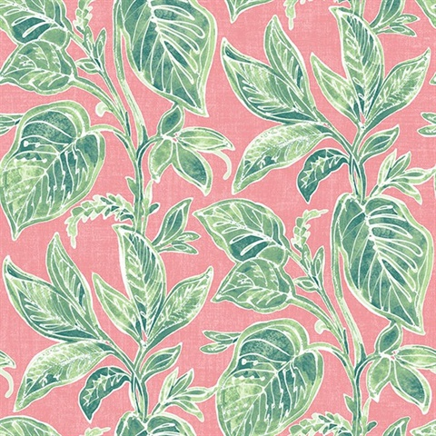 Mangrove Pink Botanical Wallpaper