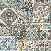 Marrakesh Blue Global Tiles Wallpaper