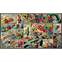 Marvel Comic Cover Panels Pre-Pasted Mural