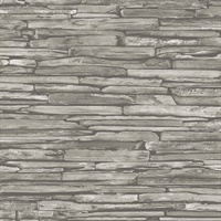 McGuire Taupe Stacked Slate Wallpaper