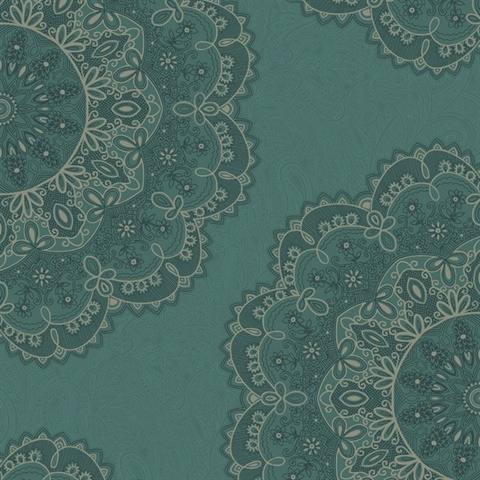 Medallion Glitter Wallpaper