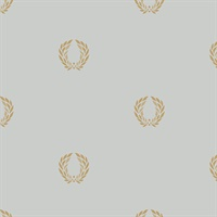 In Register Laurel Leaf Wallpaper