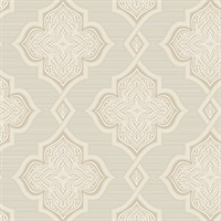 Medallion Trellis Glitter Wallpaper