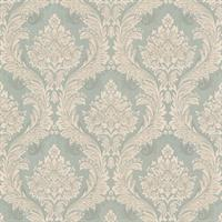 Mercutio Green Damask