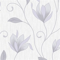 Mercutio Grey Floral Trail Wallpaper