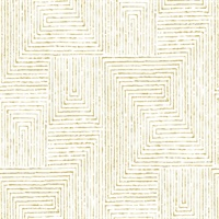 Merritt Honey Geometric Wallpaper