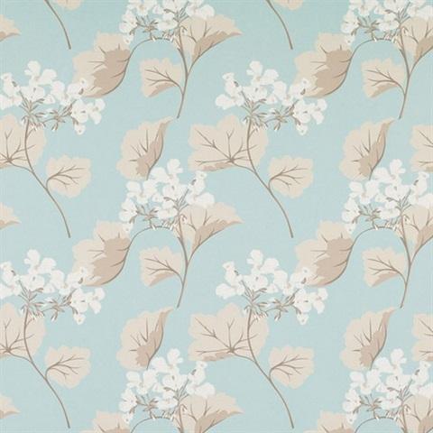 3530364 Millwood Duck Egg Floral Wallpaper