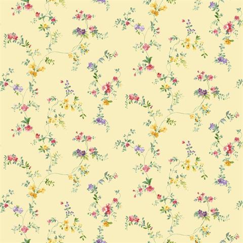 Kh7140 Mini Floral Print Totalwallcovering Com