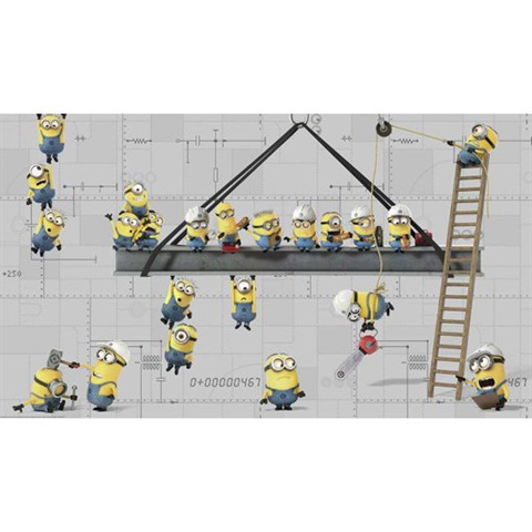 Minions at Work Pre-Pasted Mural