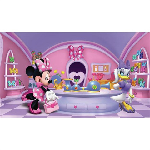 Minnie Fashionista Pre-Pasted Mural