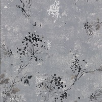 Misty Charcoal Distressed Dandelion Wallpaper
