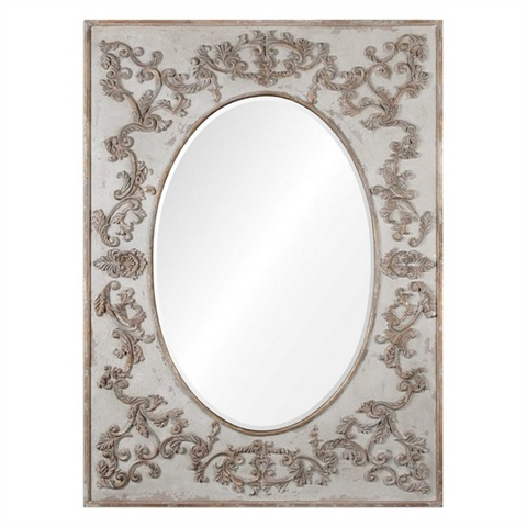Modena Oversized Ivory Wall Mirror