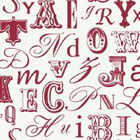 Modern Word Play Toile