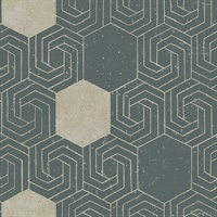 Momentum Dark Green Geometric Wallpaper