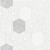 Momentum Off-White Geometric Wallpaper