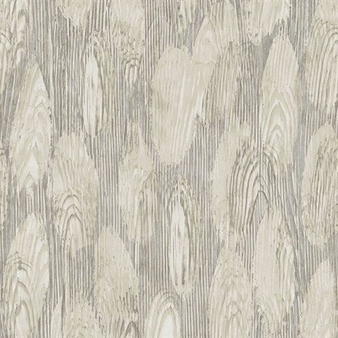 Monolith Grey Abstract Wood Wallpaper