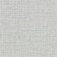 Montgomery Grey Faux Grasscloth Wallpaper