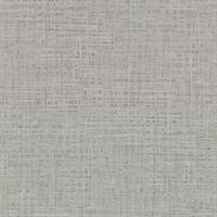 Montgomery Pewter Faux Grasscloth Wallpaper