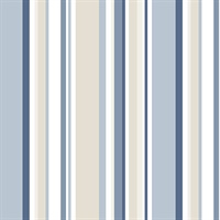 Multi Stripes Blue Tones with Cream