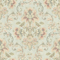 Mysore Light Green Damask