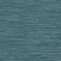 Natalie Teal Weave Texture Wallpaper