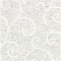 Newbury Light Grey Geometric Faux Plaster Wallpaper