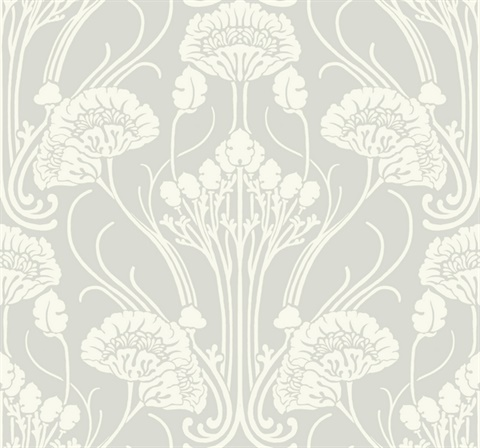 Nouveau Damask Wallpaper