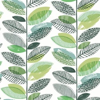 Nyssa Green Leaves Wallpaper