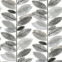 Nyssa Grey Leaves Wallpaper