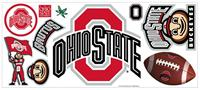 Ohio State Peel & Stick Giant Wall Decal w/Hooks