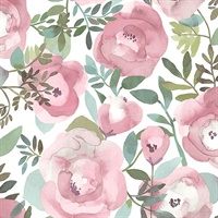 Orla Pink Floral Wallpaper
