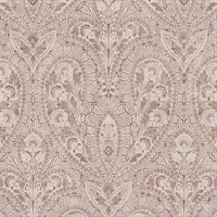 Ornamental Wallpaper in Black, Plum & Pink