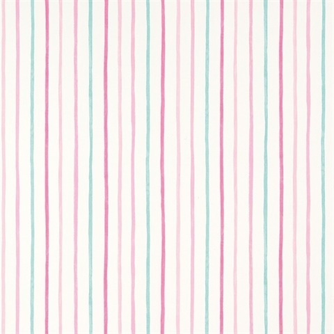 Painterly Stripe Pink