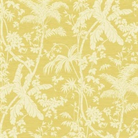 Yellow Palm Shadow Wallpaper