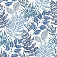 Palomas Blue Botanical Wallpaper