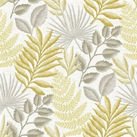 Palomas Mustard Botanical Wallpaper