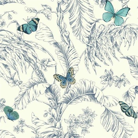 Ashford Toiles Papillon Wallpaper
