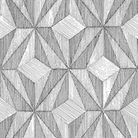 Paragon Black Geometric Wallpaper