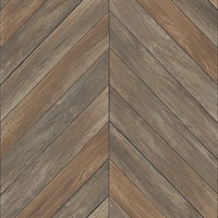 Parisian Chestnut Chevron Wood Wallpaper