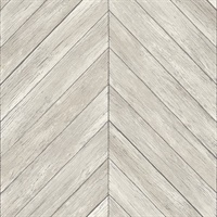 Parisian Dove Chevron Wood Wallpaper
