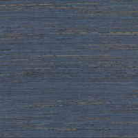 Pattini Indigo Grasscloth Wallpaper