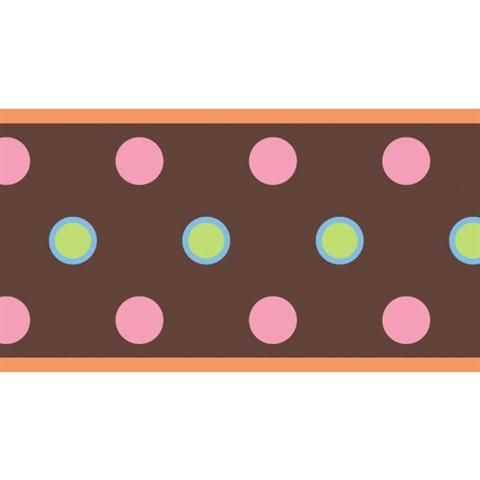 Peel and Stick, Dot Peel & Stick Border - Brown