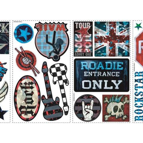 peel and stick boys rock n roll peel stick wall decals