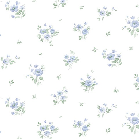 Rainbow Floral Wallpaper