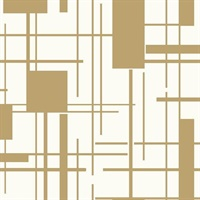 Ashford House Piet Wallpaper - Gold