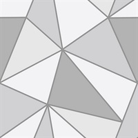 Polonius Grey Geometric Wallpaper