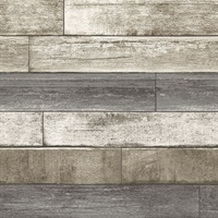 Porter Brown Weathered Plank Wallpaper