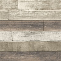 Porter Coffee Weathered Plank Wallpaper